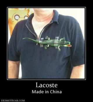 Lacoste Made in China
