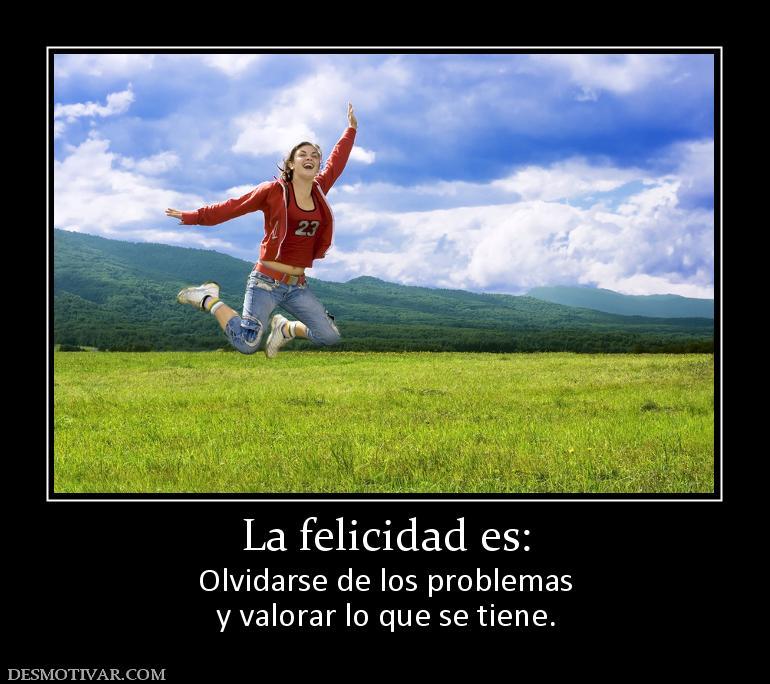 la felicidad es hacer lo que se desea y:
