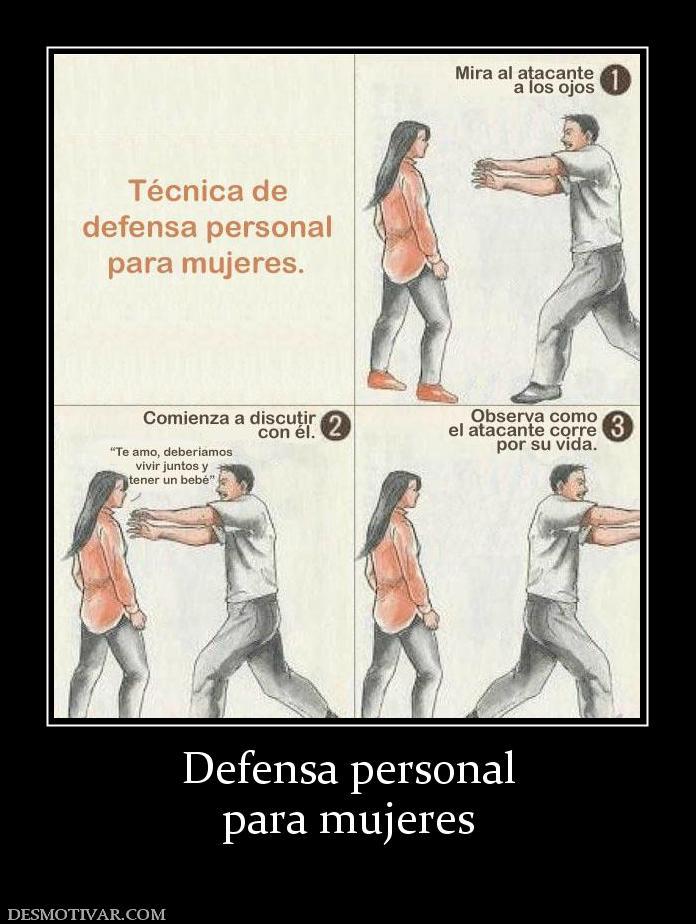 mujeres carteles graciosos humor defensa personal para mujeres ...