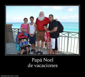 Papá Noel de vacaciones