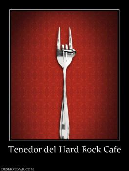 Tenedor del Hard Rock Cafe