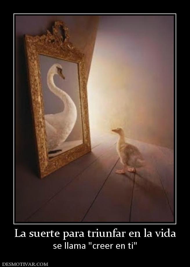 Desmotivaciones la suerte para triunfar en la vida se llama - Cabeceras pintadas en la pared ...