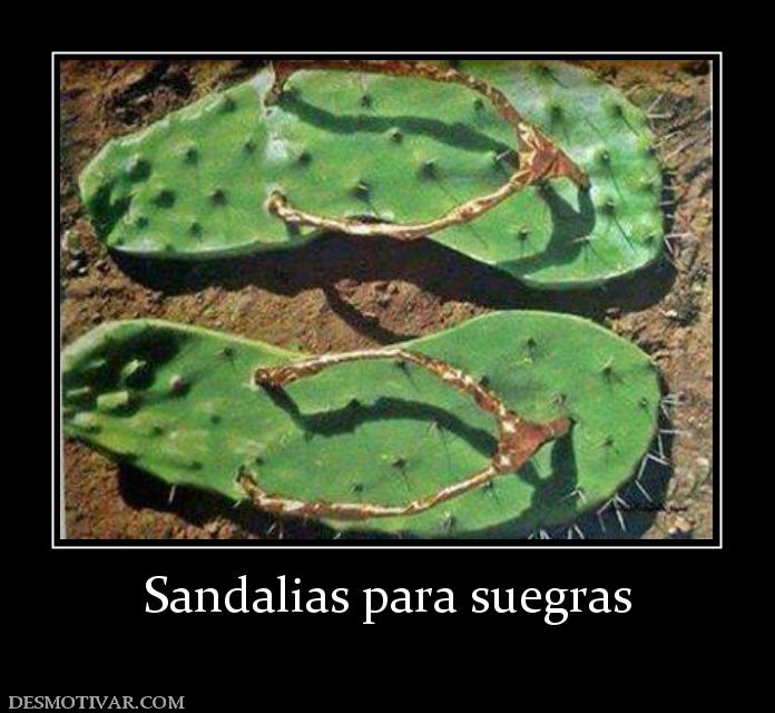 Sandalias para suegras
