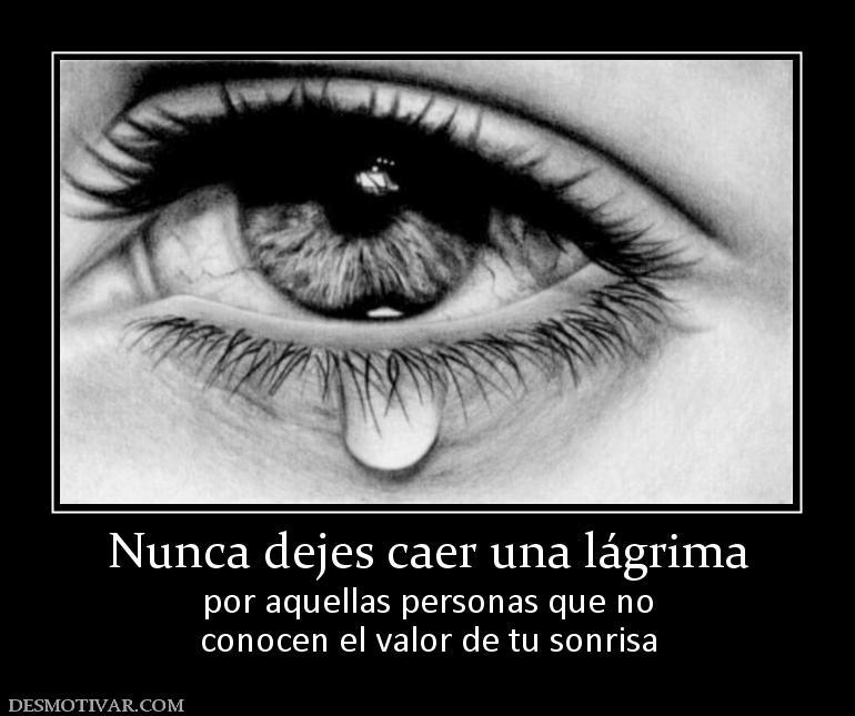 Desmotivaciones Nunca Dejes Caer Una Lágrima Por Aquellas Personas
