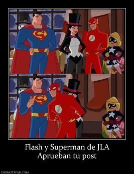 Flash y Superman de JLA Aprueban tu post