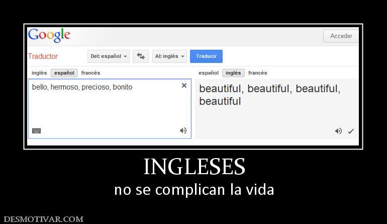11 grandes diferencias entre Inglés y Español...