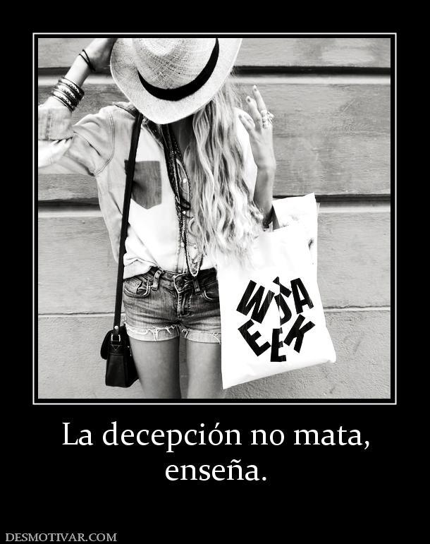 Desmotivaciones La decepción no mata, enseña.