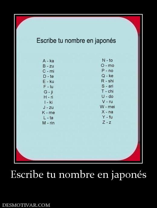 Escribe tu nombre en japonés