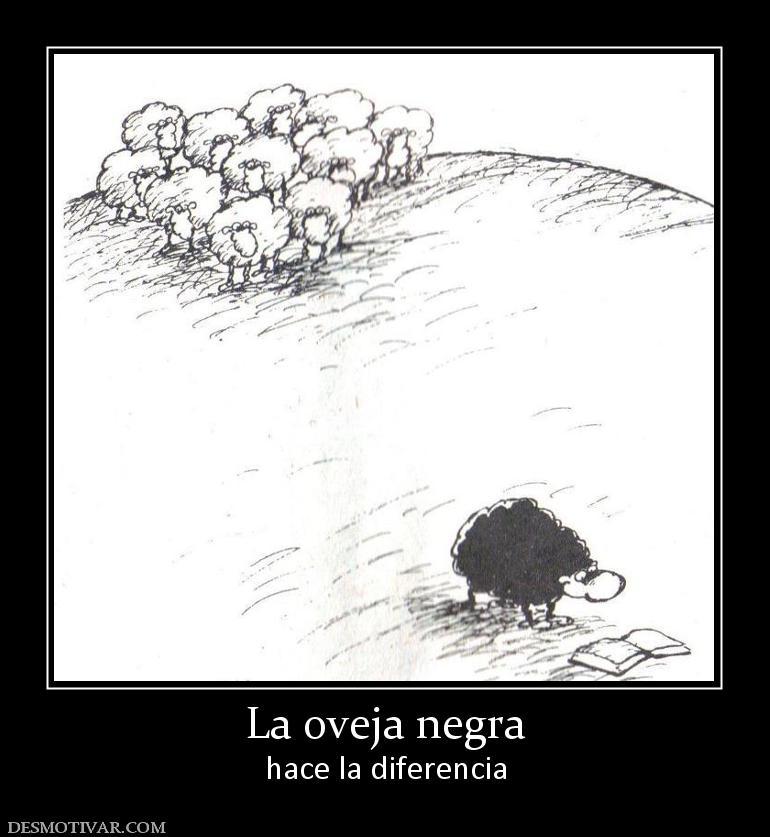 La oveja negra hace la diferencia