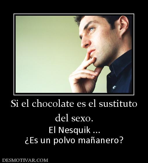 Resultado de imagen de si el chocolate es un sustituto