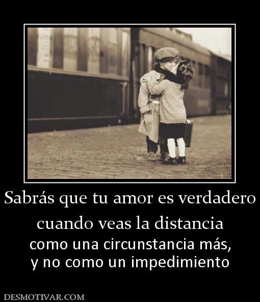 es algo mas que la distancia que el amor: